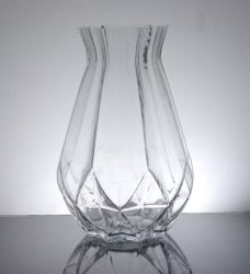 "Geomeric Bottle Vase 4.5"" x 12"", 8 p/c"
