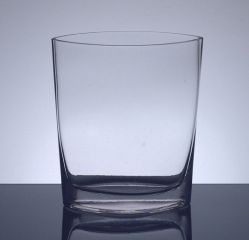"Oval Shape Glass Vase 3.5""x 7"" x 9.5"", 12 p/c"