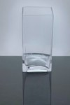 "Block Glass Vase 4"" x 4"" x 8"", 12 p/c"