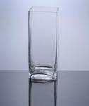 "Block Glass Vase 4"" x 4"" x 10"", 12 p/c"
