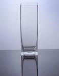 "Block Glass Vase 4"" x 4"" x 12"" , 12 p/c"