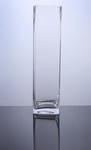 "Block Glass Vase 4"" x 4"" x 16"", 8 p/c"