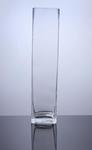 "Block Glass Vase 4"" x 4"" x 18"", 6 p/c"
