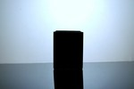 "Block Glass Vase 4"" x 4"" x 5"", Black, 12 p/c"