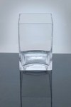 "Block Glass Vase 4"" x 4"" x 6"", 12 p/c"