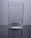 "Block Glass Vase 5"" x 3"" x 8"", 12 p/c"