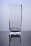 "Block Glass Vase 5"" x 5"" x 12"", 6 p/c"