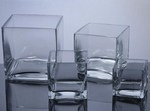 Cube Glass Vases