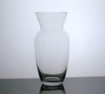 "Glass Ginger Vase 5"" x 11"", 12 p/c"