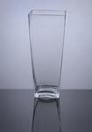 "Glass Tapered Down Vase 5"" x 5"" x 12"", 6 p/c"