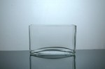"Rectangle Glass Vase 3"" x 8"" x 5"", 12 p/c"