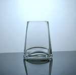 "Short Tapered Up Glass Vase 3.5"" x 5"" x 5"", 12 p/c"