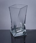 "Square Twisted Vase 3.75"" x 3.75""  x 10"", 12 p/c"