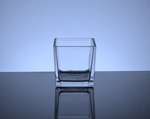 "Cube Glass Vase 3"" x 3"" x 3"", 36 p/c (Machine Made"