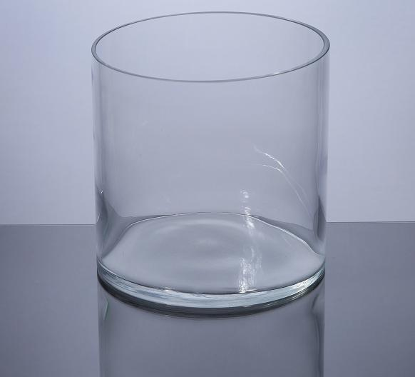 Pcm 606 Cylinder Glass Vase 6x 6 12pc Machine Made Glass
