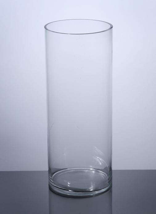 "PC820 Cylinder Glass Vase 8"" x 20"" 4 p c Cylinder Glass"