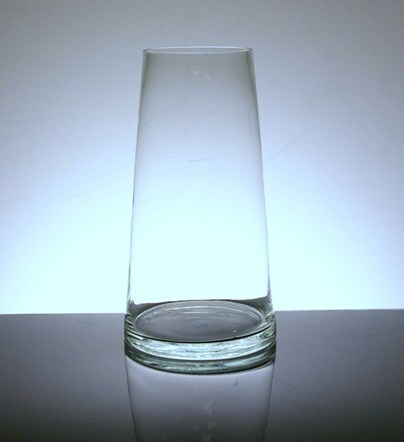 Pc466 Short Tapered Up Cylinder Vase 4 Quot X 6 Quot X 6 Quot 12 P C Glass Tapered Vases