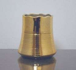 "Ceramic Flower Pot Vase 4"" x 6"", Gold, 12 p/c"