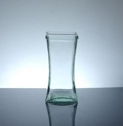 "Short Square Gathering Vase 3"" x 3"" x 6.5"", 24 p/c"