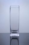 "Block Glass Vase 3"" x 3"" x 10"", 12 p/c"