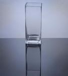 "Block Glass Vase 3"" x 3"" x 8"", 12 p/c"