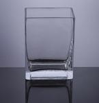 "Block Glass Vase 4"" x 3"" x 6"", 12 p/c"