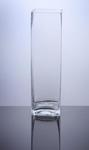 "Block Glass Vase 4"" x 4"" x 14"", 12 p/c"