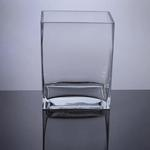 "Block Glass Vase 4"" x 6"" x 8"", 6 p/c"