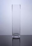 "Block Glass Vase 5"" x 5"" x 20"", 6 p/c"