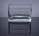 "Block Glass Vase 6"" x 3"" x 4"", 12 p/c"