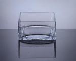 "Block Glass Vase 8"" x 8"" x 4"", 8 p/c"