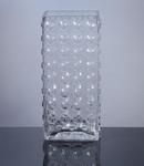 "Block Bubble Glass Vase 4.5"" x 3""  x 11"", 12 p/c"