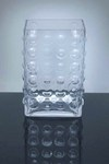 "Block Bubble Glass Vase 3.5"" x 5""  x 7.75"", 12 p/c"