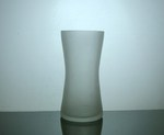 Frosted Hour Glass Vase