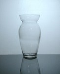 "Ginger Glass Vase 4"" x 8"", 12 p/c machine made"