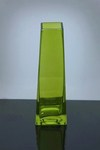 "Tapered Up Glass Vase 2"" x 3"" x 9"", Green, 12 p/c"