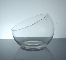 "Sloped Fishbowl 6.5"" x 5.5"", 12 p/c"