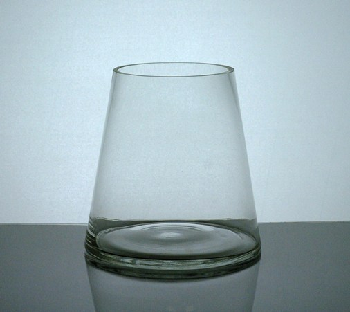 Pc466 Short Tapered Up Cylinder Vase 4 X 6 X 612 Pc Glass