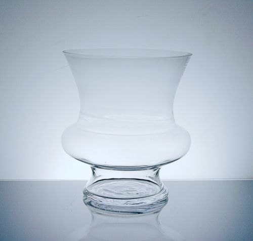 Wide Footed Urn Glass Vase 8
