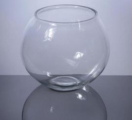 Bubble Bowl Glass Vase 5.5